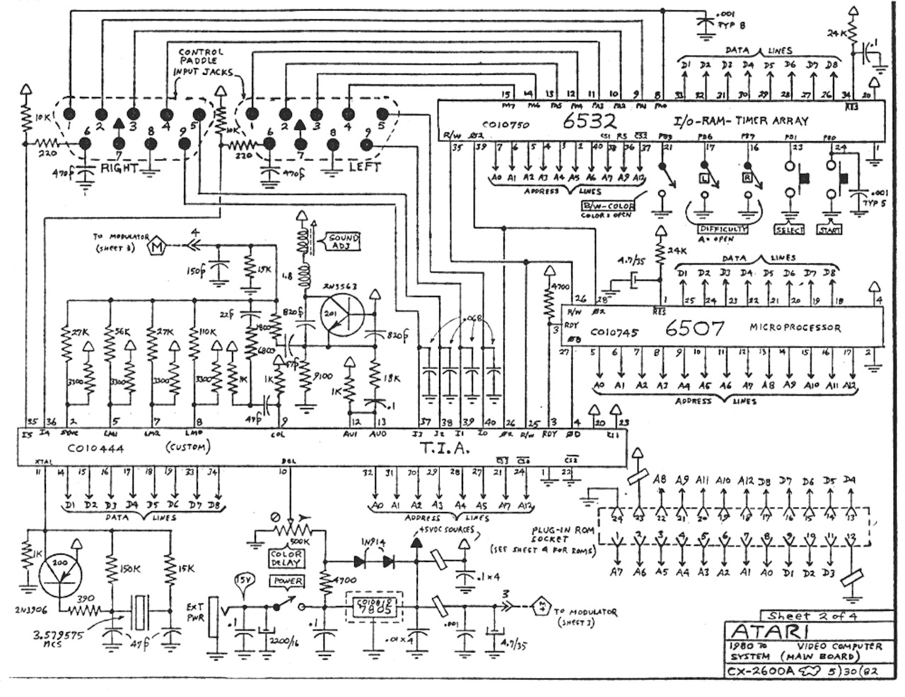 Atari2600A atari 2600 schematics vintage gaming and more! Atari 2600 System at mifinder.co